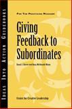 Giving Feedback to Subordinates 9781882197392