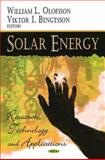 Solar Energy : Research, Technology and Applications, Olofsson, William L., 1604567392
