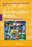Institutional Analysis and Praxis : The Social Fabric Matrix Approach, Natarajan, Tara, 0387887407