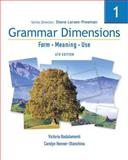 Grammar Dimensions Bk. 1 : Form - Meaning - Use, Larsen-Freeman, Diane and Badalamenti, Victoria, 1413027407