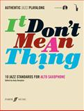It Don't Mean Thing, Alfred Publishing Staff, 057152740X