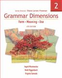 Grammar Dimensions : Form, Meaning, Use, Wisniewska, Ingrid and Riggenbach, Heidi, 1413027415