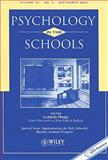 Psychology in the Schools, Implementing the Safe Schools/Healthy Students Projects, PITS, 0471647446