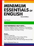 Minimum Essentials of English, Fred Obrecht, 0764107453
