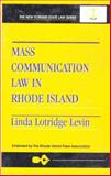 Mass Communication Law in Rhode Island 9780913507452