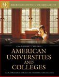 American Universities and Colleges, American Council on Education Staff, 0275987450