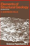 Elements of Structural Geology, E. S. Hills, 0412207508
