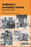 Wellbeing in Developing Countries : From Theory to Research, , 0521857511