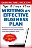Tips and Traps for Writing an Effective Business Plan, Balanko-Dickson, Greg, 0071467513