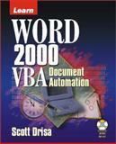 Learn Word 2000 VBA Document Automation, Scott Driza, 1556227515