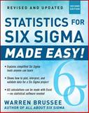 Statistics for Six Sigma Made Easy!, Brussee, Warren, 007179753X