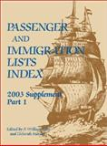 Passenger and Immigration Lists, Filby, P. William and Stanley, Deborah, 0787657530