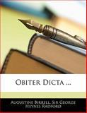 Obiter Dicta, Augustine Birrell and George Heynes Radford, 1141097567