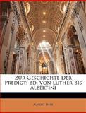 Zur Geschichte der Predigt, August Nebe, 1144627575