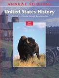 United States History Vol. 1 : Colonial Through Reconstruction, Maddox, Robert James, 007339761X