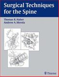 Surgical Techniques for the Spine, , 3131247614