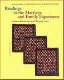 Readings in the Marriage and Family Experience : Intimate Relationships in a Changing Society, Strong, Bryan and DeVault, Christine, 0534537634