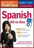 Spanish All-in-One : Language Reference and Review for Your iPOD, Chapin, Alex, 0071627669