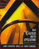 Brief Calculus and Its Applications, Goldstein, Larry J. and Lay, David C., 0130797677