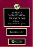 Surface Modification Engineering, Ram Kossowsky, 0849347696