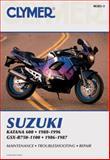 Suzuki Katana 600, 1988-1996, GSX-R750-1100, 1986-1987, Clymer Publications Staff, 0892877723