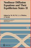 Nonlinear Diffusion Equations and Their Equilibrium States 2, , 0387967729