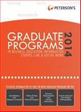 Graduate Programs in Business, Education, Information Studies, Law and Social Work 2014 (Grad 6), Peterson's, 0768937728