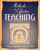 Methods for Effective Teaching, Burden, Paul R. and Byrd, David M., 0205367747