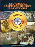 120 Great Impressionist Paintings CD-ROM and Book, , 048699774X