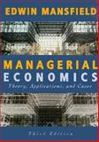 Managerial Economics, Mansfield, Edwin, 0393967751