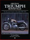 Original Triumph Bonneville, Kane, Gerard T. and Marsden, David, 0760307768