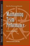 Maintaining Team Performance, Kanaga, Kim and Browning, Henry, 1882197771