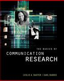 The Basics of Communication Research, Baxter, Leslie A. and Babbie, Earl R., 0534507786