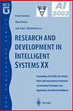 Research and Development in Intelligent Systems Xx, , 185233780X
