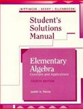 Elementary Algebra : Concepts and Applications, Bittenger, Marvin L., 0201537842