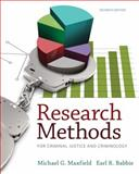 Research Methods for Criminal Justice and Criminology, Maxfield, Michael G. and Babbie, Earl R., 1285067843