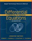 Differential Equations, Maple Technology Resource Manual : A Modeling Perspective, Borrelli, Robert L. and Coleman, Courtney S., 0471447846