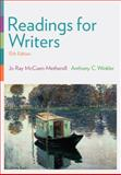 Readings for Writers, McCuen-Metherell, Jo Ray and Winkler, Anthony C., 1305087860