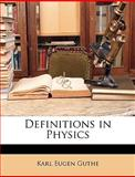 Definitions in Physics, Karl Eugen Guthe, 1144787882