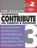 Macromedia Contribute 3 for Windows and Macintosh, Tom Negrino, 0321267885