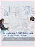 Managing, Controlling, and Improving Quality, Montgomery, Douglas C. and Jennings, Cheryl L., 0471697915