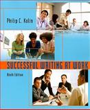 Successful Writing at Work, Kolin, Philip C., 0547147910