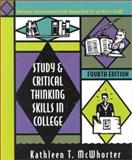 Study and Critical Thinking Skills in College, McWhorter, Kathleen T., 0321037928