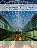 Student Solutions Guide with Solutions Manual for Elementary Geometry for College Students, 5th, Alexander, Daniel C. and Koeberlein, Geralyn M., 1439047936