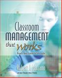 Classroom Management That Works : Research-Based Strategies for Every Teacher, Marzano, Robert J. and Marzano, Jana S., 0871207931