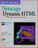 Official Netscape Dynamic HTML Developer's Guide, Kidder, Gayle, 1566047978