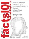 Studyguide for Abnormal Psychology: Clinical Perspectives on Psychological Disorders by Richard Halgin, ISBN 9780077390020, Reviews, Cram101 Textbook and Halgin, Richard, 1490247971
