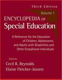 Encyclopedia of Special Education Vol. 1 : A Reference for the Education of Children, Adolescents, and Adults with Disabilities and Other Exceptional Individuals, , 0471677981