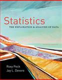 Statistics : The Exploration and Analysis of Data, Peck, Roxy and Devore, Jay L., 0840058012