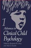 Advances in Clinical Child Psychology : Volume 1, , 1461398010